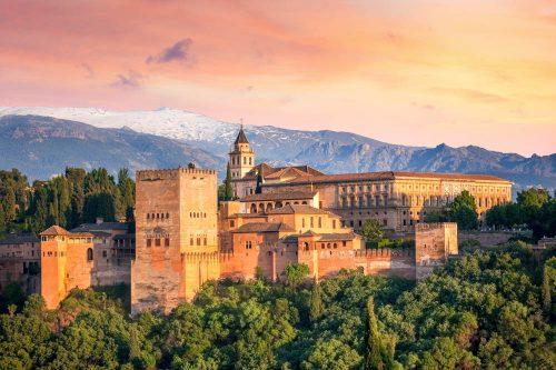 Alhambra in Granada Spanien, arabic fortress Alhambra in Granada Spain