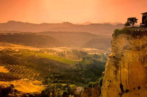 paisaje en Andalucía, Landschaft in Andalusien