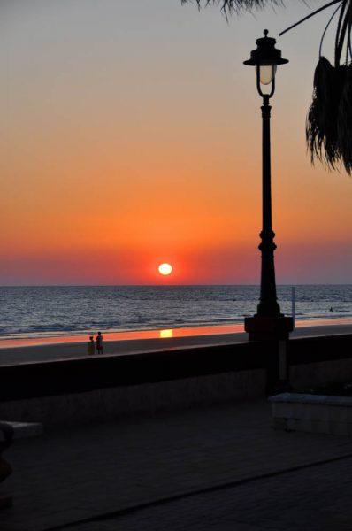 Chipiona baja de sol - sunset - Sonnenuntergang