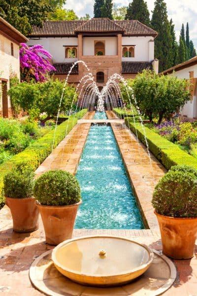 Alhambra de Granada, Jardines del Generalife, the Generalife with its garden, Generalife Garten