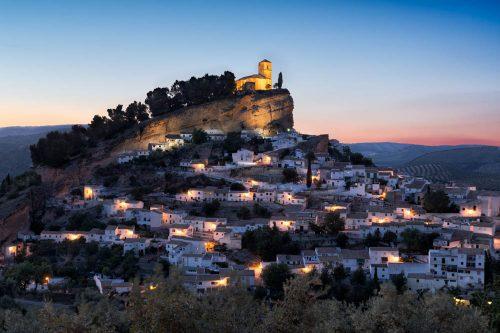 Granada pueblos, Montefrío, village in Andalusia, Dorf mit Ausblick in der Provinz Granada