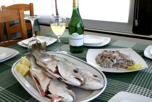 pescado fresco en restaurantes, chipiona