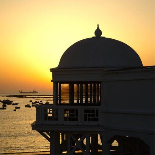Playa de la Caleta Cádiz capital, cadiz beach, Strand in Cádiz-Stadt