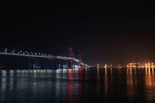 Puente de la Constitución Cádiz - new bridge - neue Brücke nach Cádiz Stadt