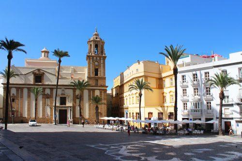 cadiz plaza de la catedral-cadiz cathedral square- Cadiz Domplatz
