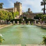 Córdoba Jardín del alcázar de los Reyes Cristianos - castle of the Catholic Monarchs - Córdoba Stadt Alcázar Burg
