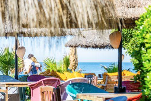 Ajedrez entre Chipiona y Costa Ballena, Beachclub zwischen Chipiona und Costa Ballena