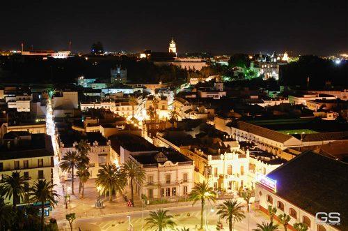 centro de Sanlúcar de Barrameda de noche