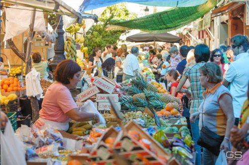 Venta de frutas y verduras, Markt in Sanlúcar