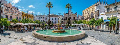 Plaza del Cabildo, tapas restaurantes Sanlúcar de Barrameda Andalucía