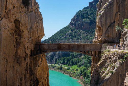 el caminito del rey malaga-königsbrücke andalusien