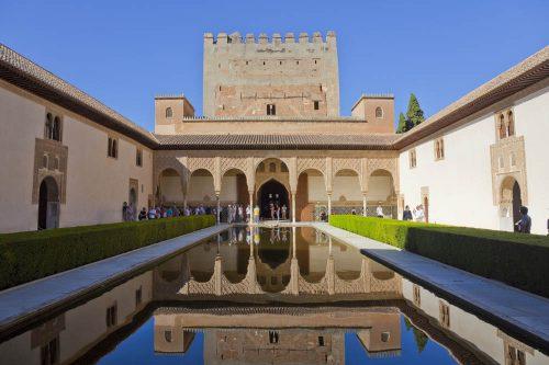 Alhambra, Patio de los Arrayanes, court of the myrtles, Myrtenhof