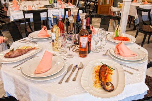 mesa restaurante La Pañoleta Chipiona