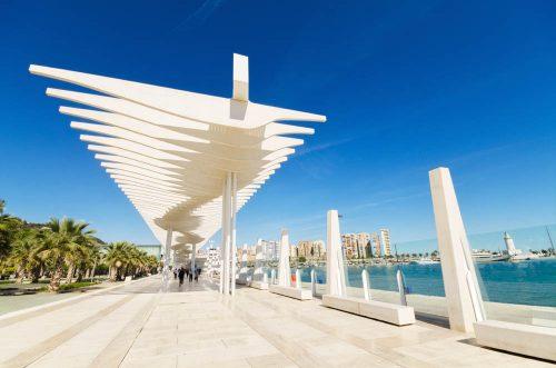 Málaga capital - El Palmeral de las Sorpresas - boulevard - Promenade