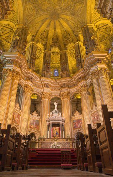 andalusien, malaga kathedrale