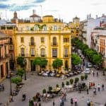 Sevilla Plaza del Triunfo - Seville Triunfo square - Sevilla Triunfo Platz