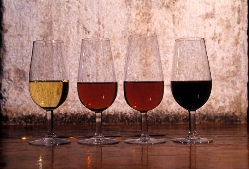 4 tipos de vino de Jerez, 4 kinds of sherry wine